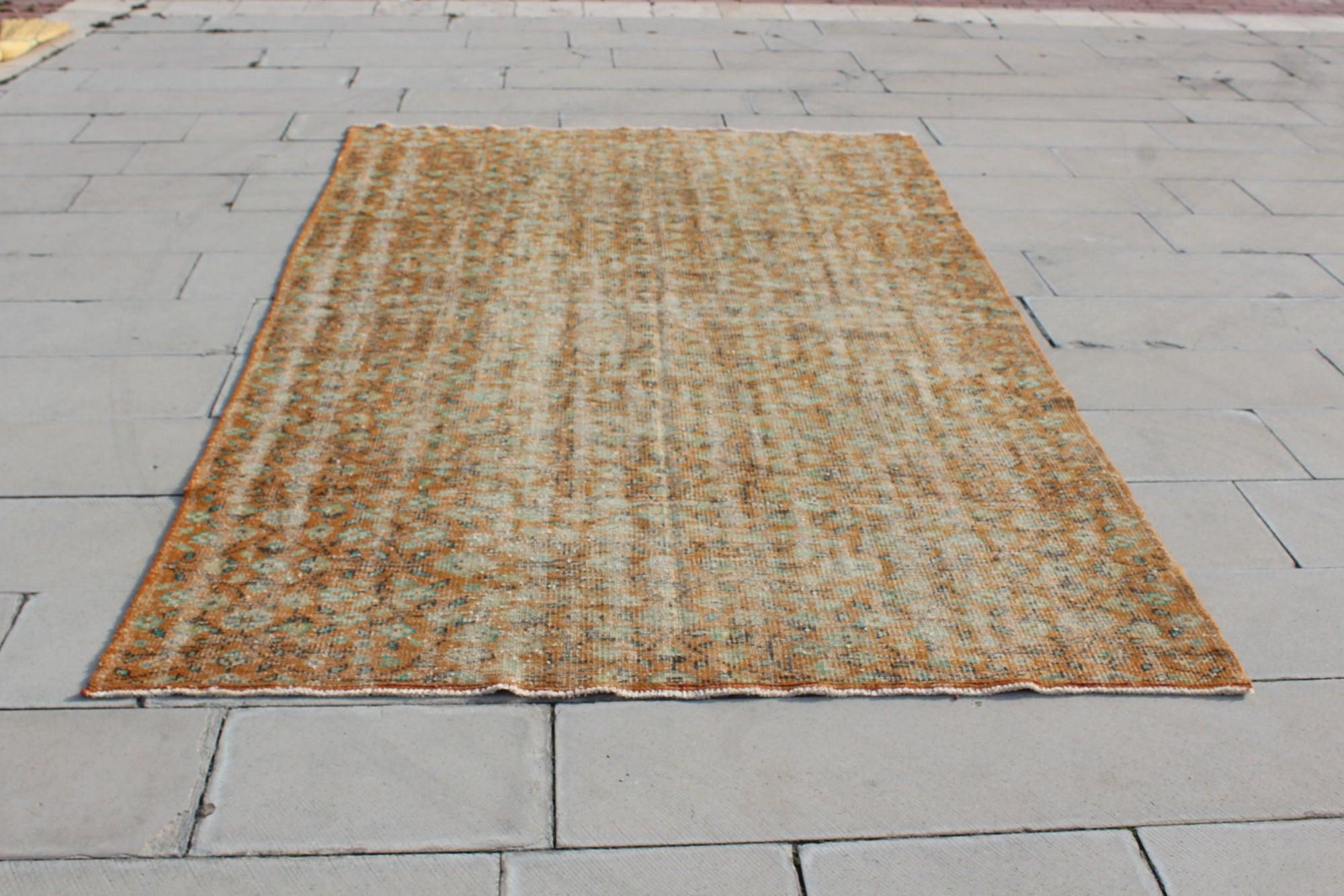 Turkey Rug, Vintage Oushak   Bohemian Turkish Rug, Handmade Turkish Carpet, Oriental Hand Knotted Rug,   5.9 x 9.1  Feet AG961