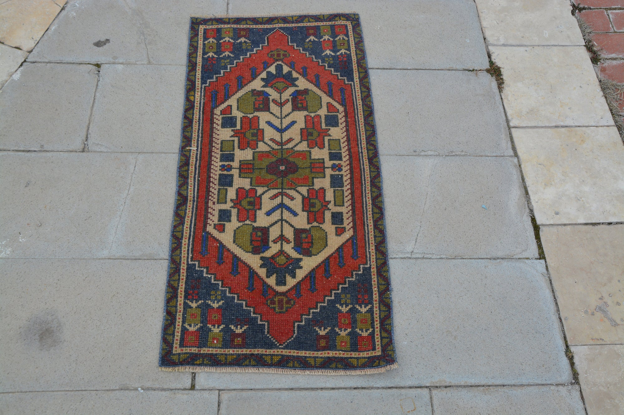 Inexpensive Turkish Rugs, Turkish Woven Rugs, Bohemian Area Rugs, The Rug Store, Turkish Rug,               1.7 x 3.5  Feet AG1081