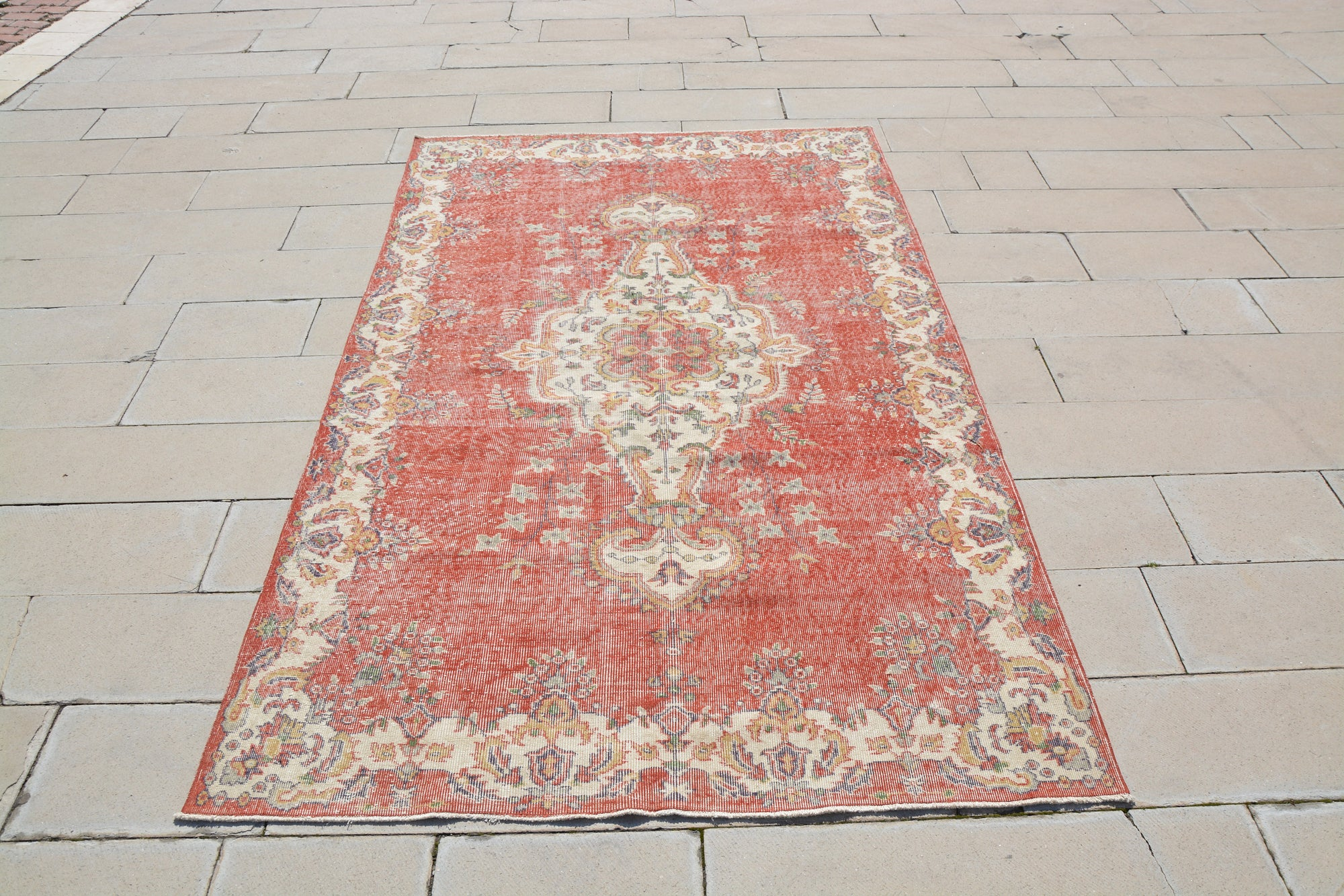 Turkey Rug, Turkey Rug Wool, Fine Rugs, Hand Woven Turkish Rugs, Colourful Turkish Rug, Discount Oriental Carpets,  5.8 x 9.3 Feet AG1117
