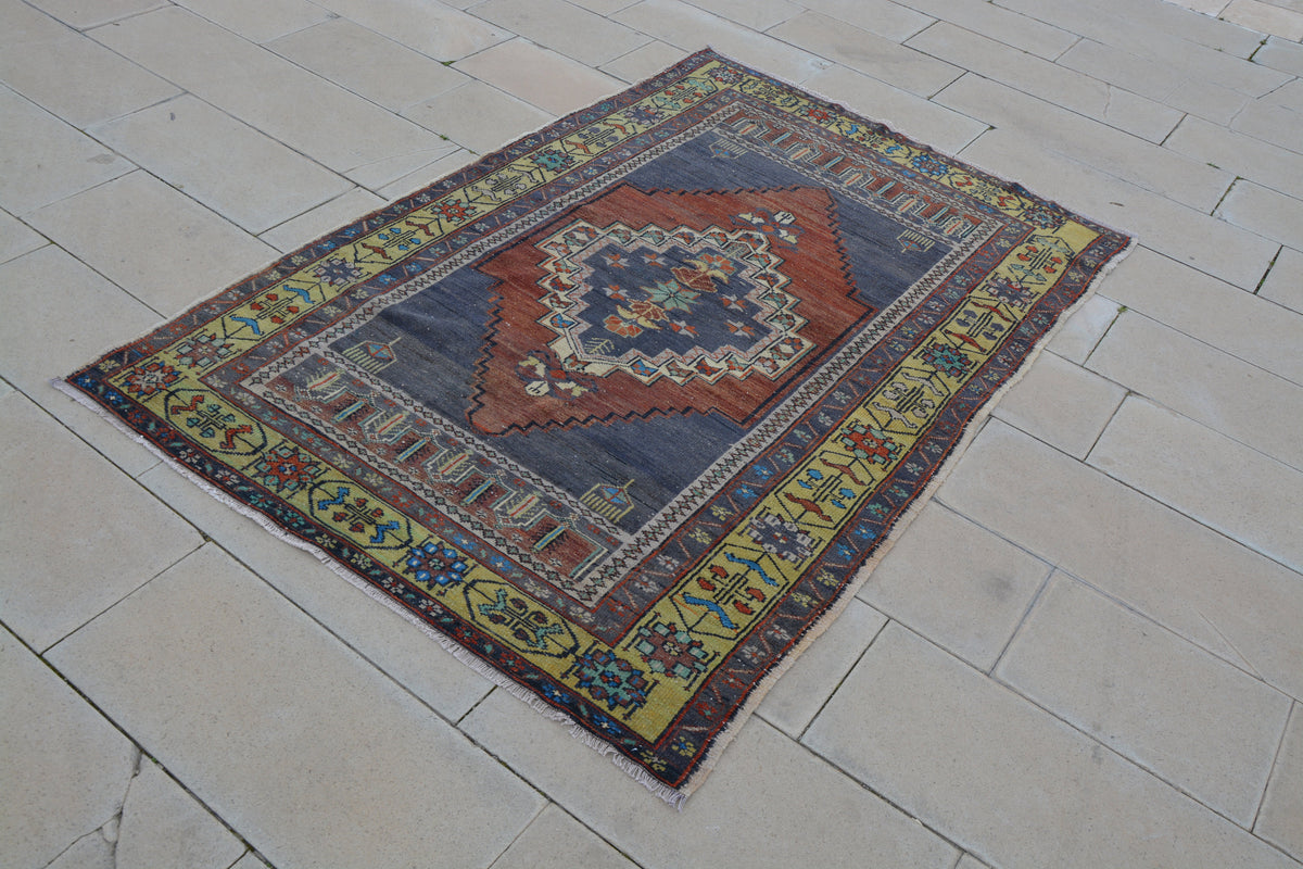 Turkish Wool Rugs, Oushak Rug, Turkish Rug, Vintage Rug, Area Rug, Rugs, Handmade Rug,       4.3 x 6.6 Feet AG1164