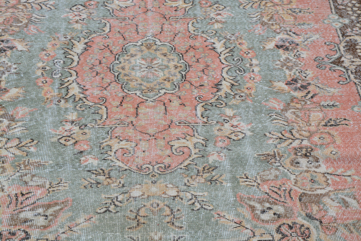 Pink Oriental Carpets Online, Traditional Turkish Rugs, Room Rugs, Discount Turkish Rugs, Hand Woven Rugs,       6.0 x 9.3  Feet AG1065