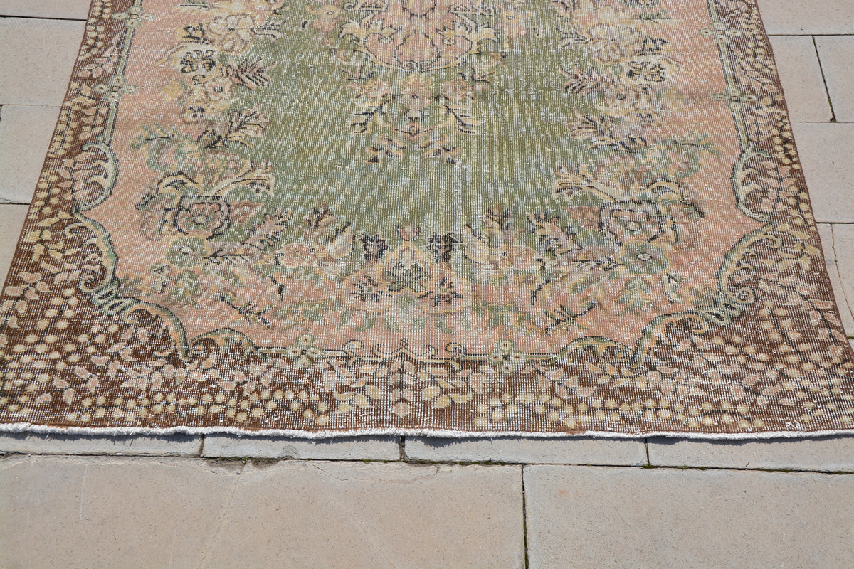 Oriental Wool Rugs on Sale, Contemporary Turkish Rugs, Used Oriental Rugs, Vintage Oriental Rugs, Hand Tufted Rug,   5.8 x 9.6  Feet AG1103