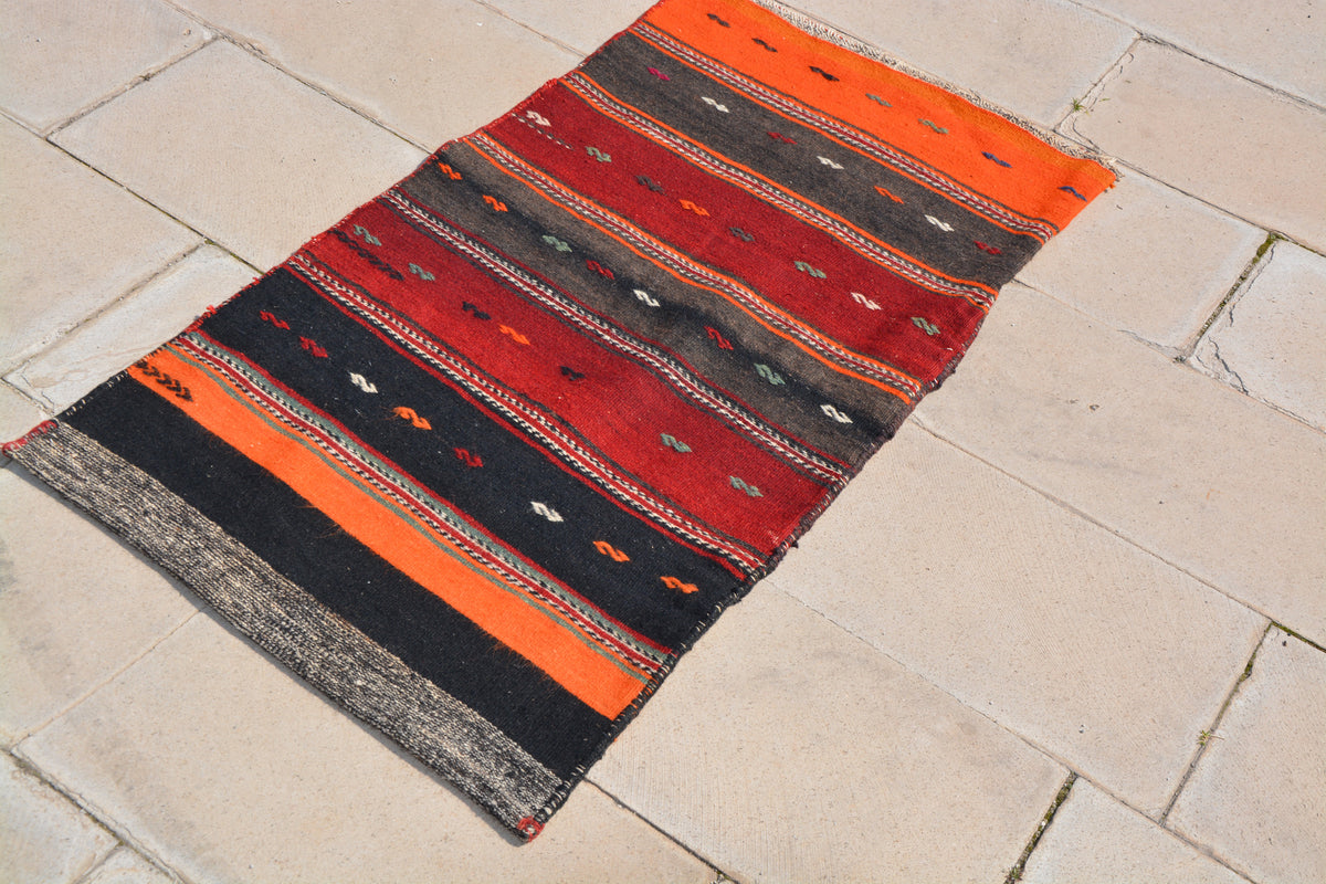 Turkish Kilim Chuval, Turkish Kilims, Chuval Sack Bag,  Turkish Grain Sack, Turkish Textile,         2.2 x 4.1 Feet AG1288