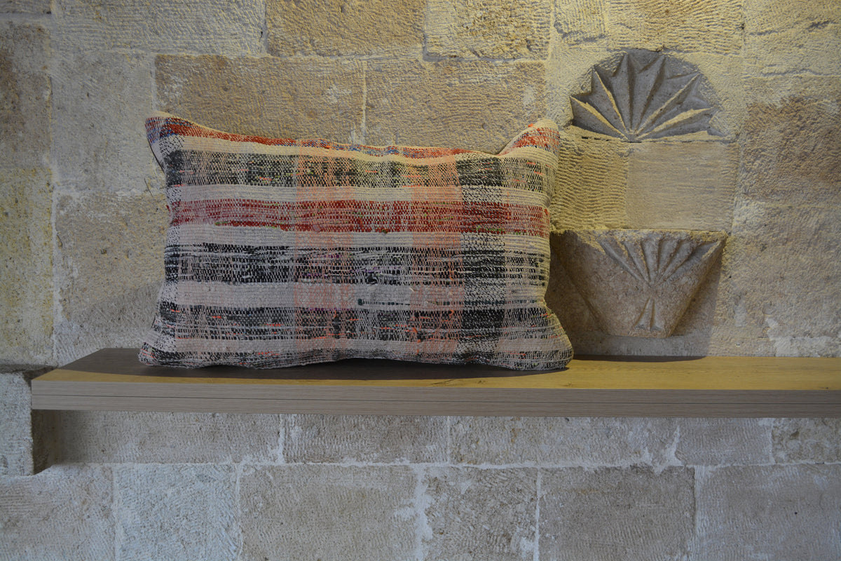 "Large Wool Cushion, Beni Ourain Cushion, Moroccan Cushion Boho,  , Brown Cushion Decor Cushion, Cotton  16x24 Cushion,       16""x24"" - EA297"