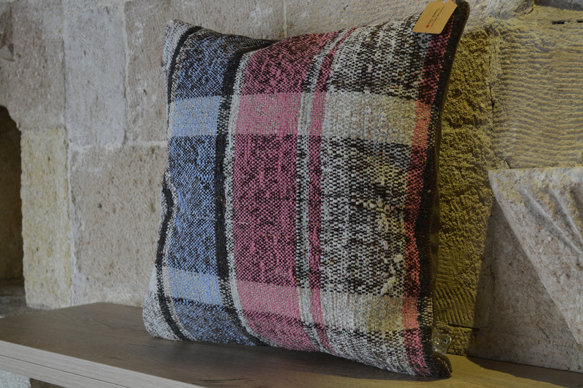"Cushion Extra Large, Cushion Outdoor, Cushion Wool, Cushions Large, Cushion Berber Kilim, Woven Cushion,     16""x16"" - EA120"