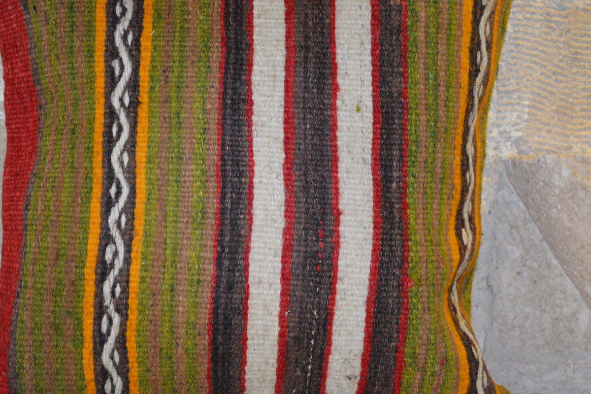 "Lumbar Large Kilim Pillow, Kilim Cushion Case, Home Decor Pillows, Kilim Pillow 16x16, Rug Pillow Case,        16""x16"" - EA151"