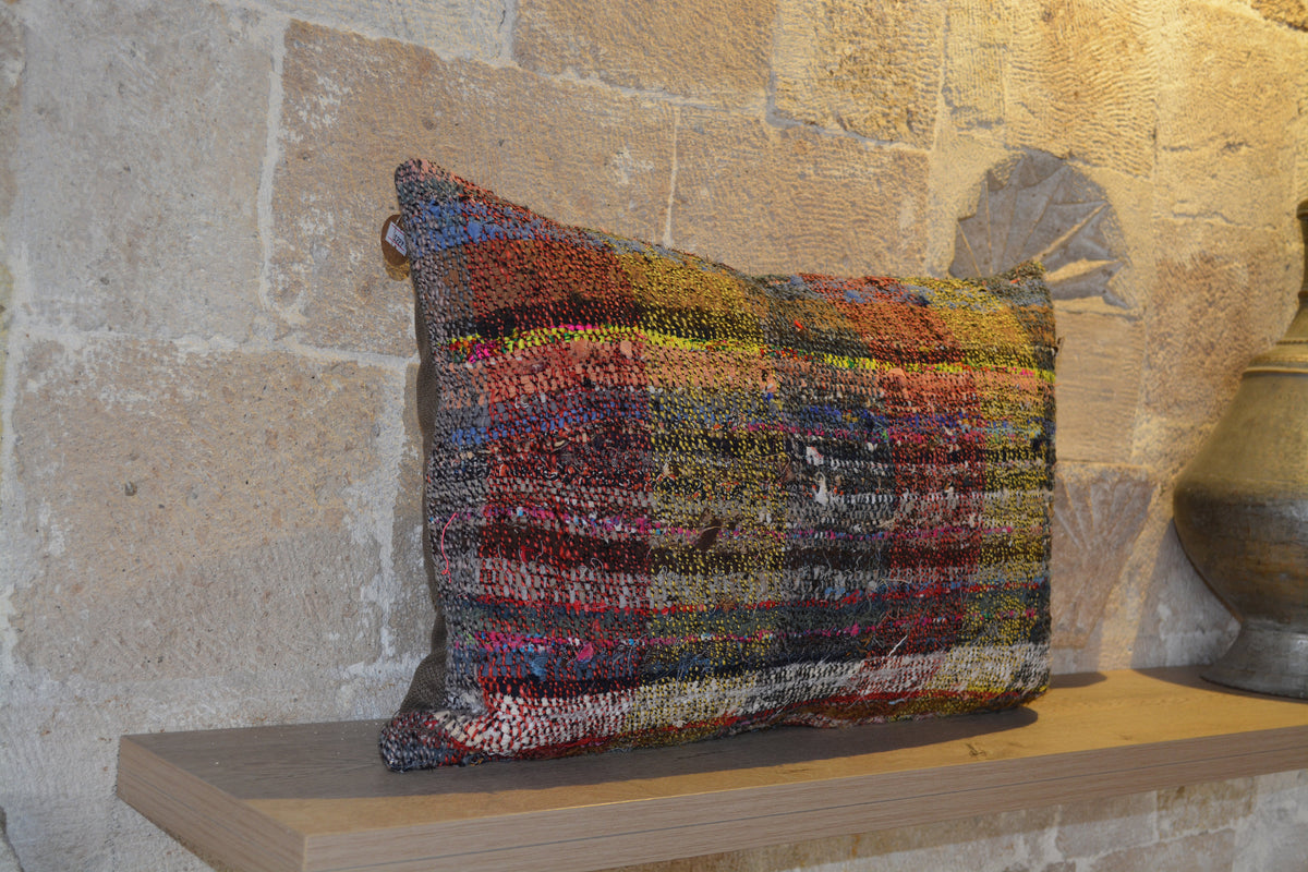 "40x60 cm Cushion, Faded  Boho Cushion, Natural   Orange Boho Cushion, Antique  Orange Turkish Cushion,      16""x24"" - EA227"