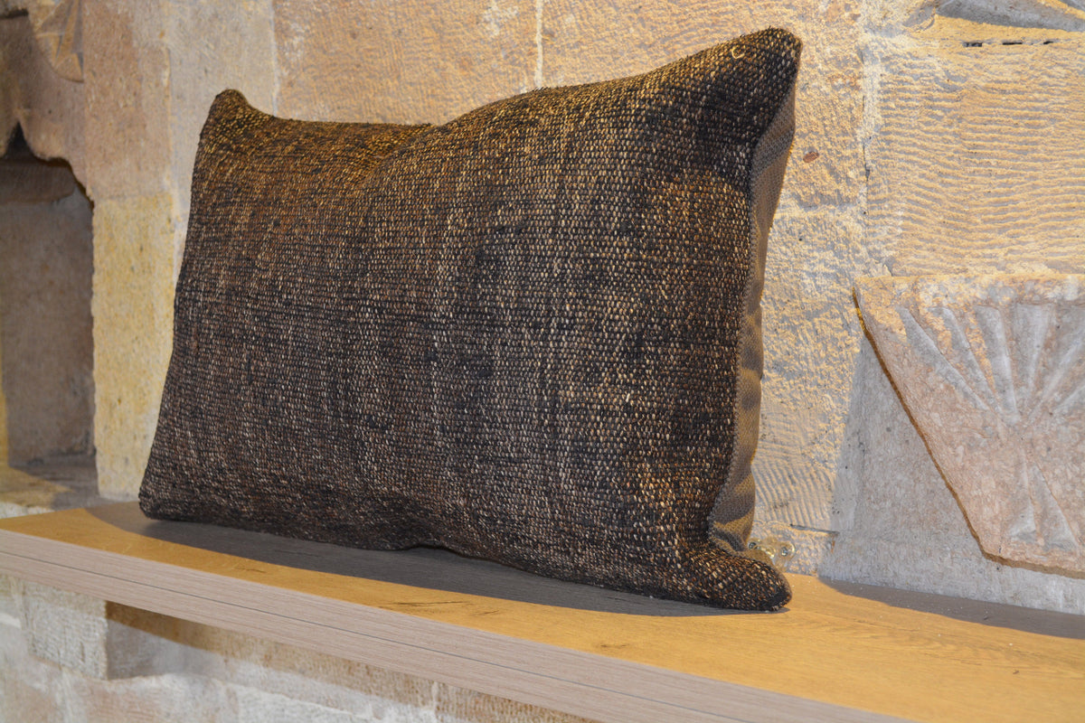 "Moroccan  Wool Cushion, Bohemian  Kilim Cushion, Faded Cushion, Boucherouite Cushion, Beni Ourain Cushion,       16""x24"" - EA231"