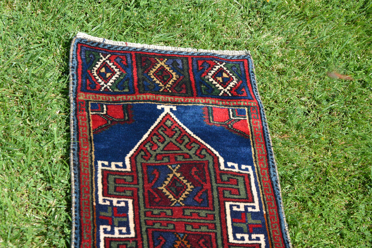 Turkish Rug, Small Turkish Rug, Living Room Rug, Tapis Berber, Turkey Rug, Floor Turkish Rug, Hallway Rug,        1.4 x 3.0 Feet AG1377