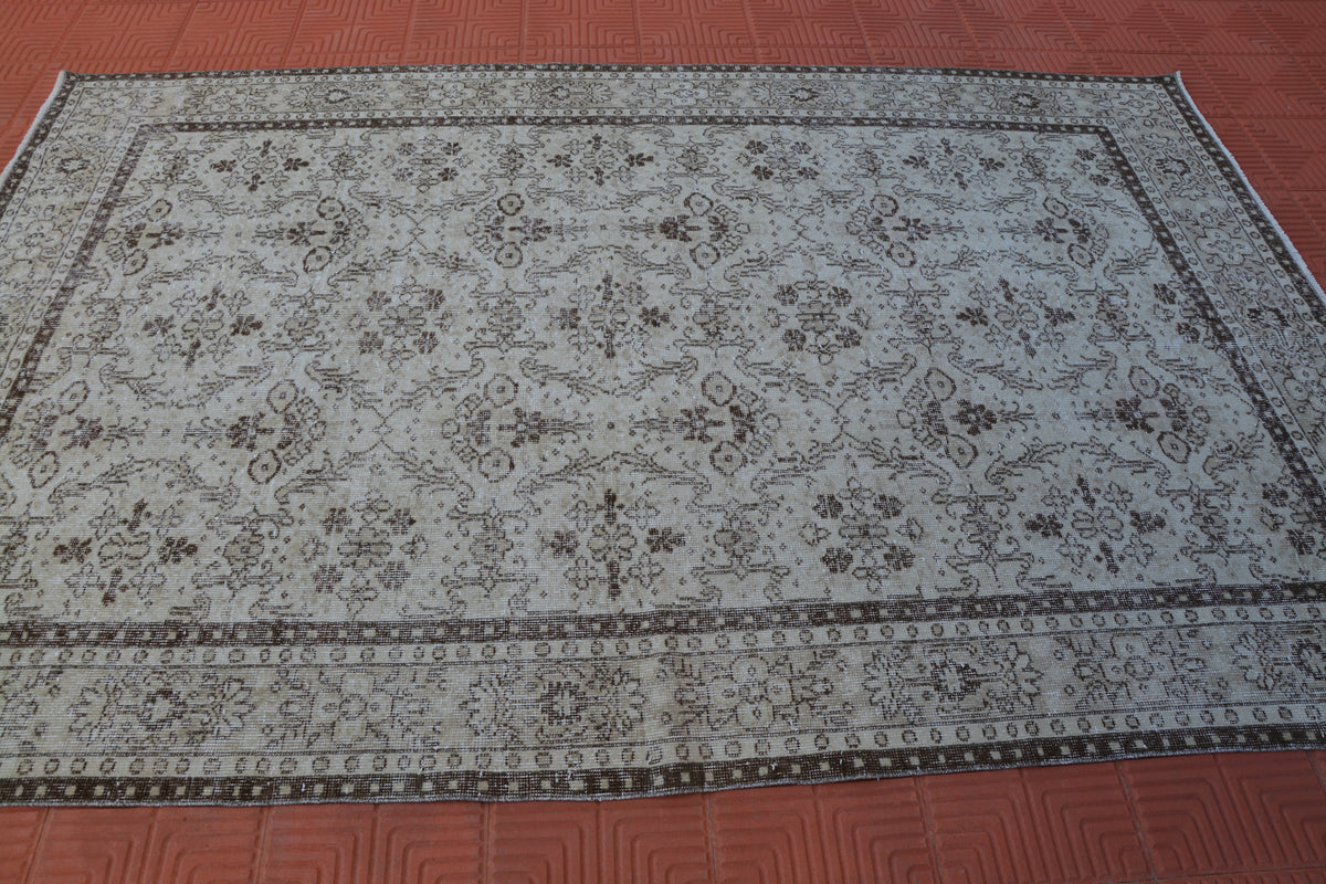 Turkey Rug, Turkish Anatolian Carpet, Berber Teppiche, Colorful Turkish Rug, House Turkish Vintage Rug,         6.0 x 9.2 Feet AG1495