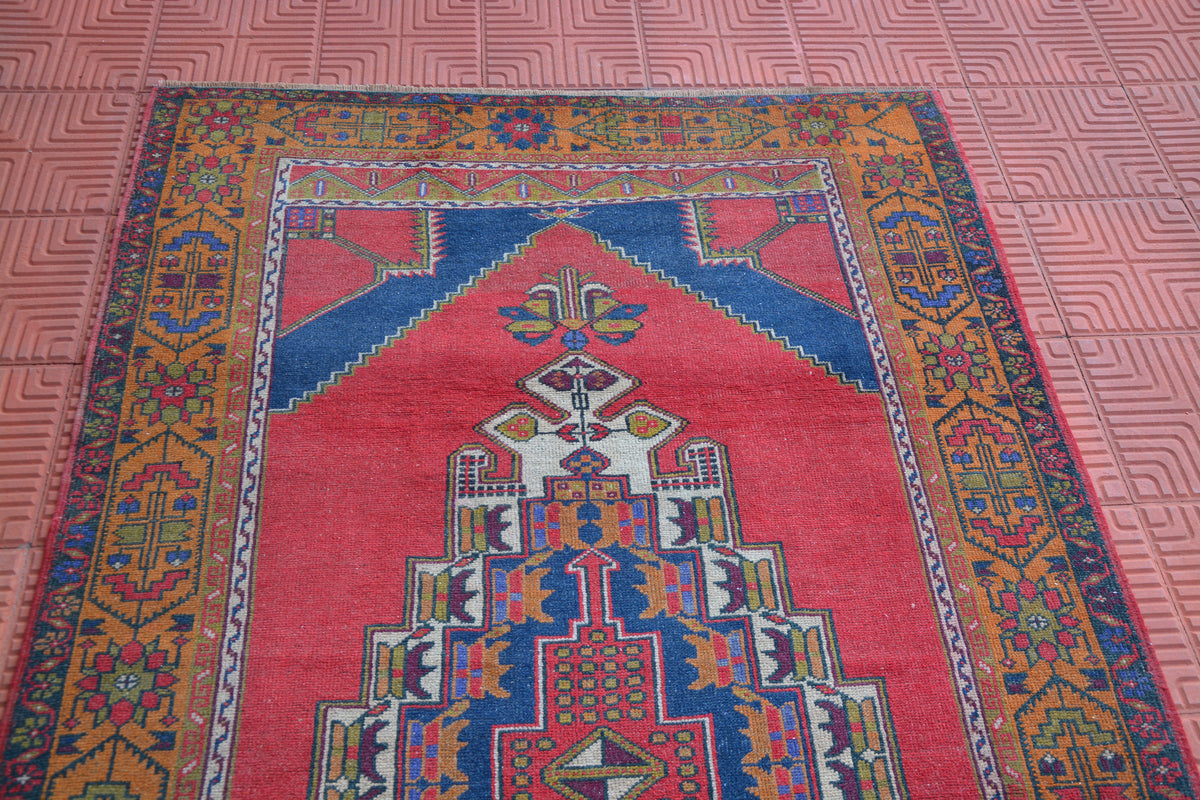 Traditional Turkish Rug, Carpet Rug, Home Living Rug, Hand knotted Rug, Handwoven Rug, Hallway Rug, Morrocan Rug,     4.6 x 8.1 Feet AG1545