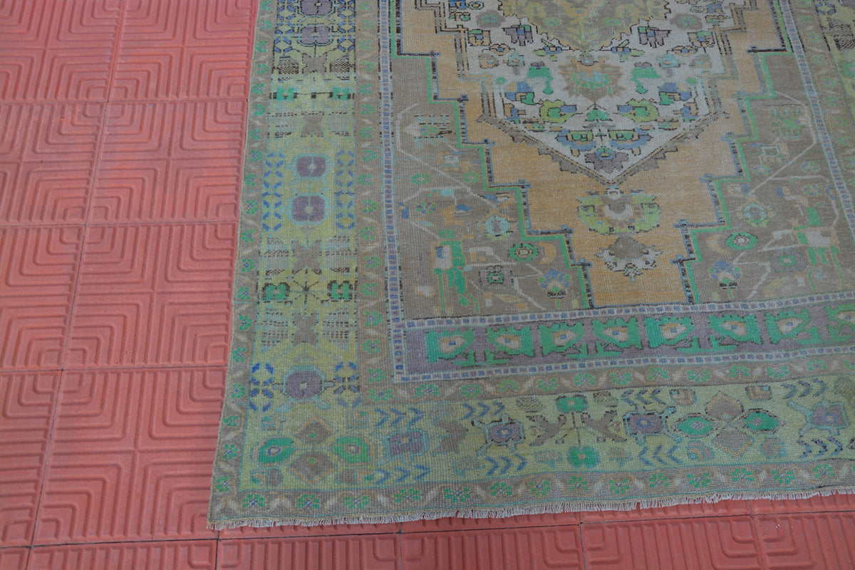 Turkish Hand Knotted Rug, Moroccan Rug, Berber Teppiche, Turkish Flat weave Rug, Hand Woven Oriental Rug,       5.2 x 8.3 Feet AG1547