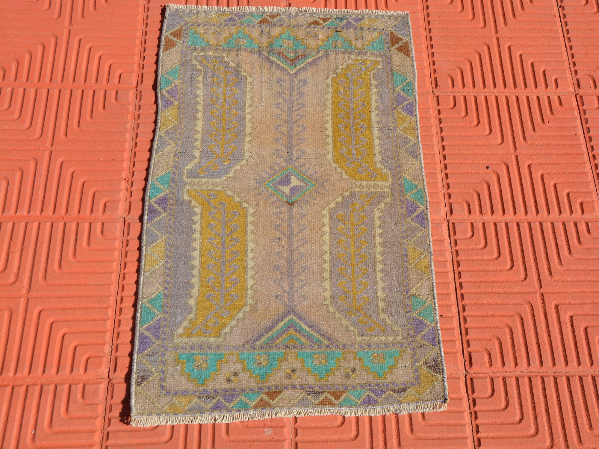 Small Kilim Rug, Vintage Rugs, Bedside Rug, Entrance Rug, Office Rug, Front door Turkish Rug, Ethnic Rug,             1.7 x 2.8 Feet AG1604