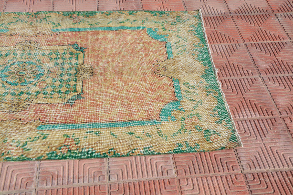 Small Oushak Rug, Handmade Small Rug, Vintage Rugs, Small Anatolian Rug, Antique Rug, Traditional Rug,     3.7 x 7.1 Feet AG1691