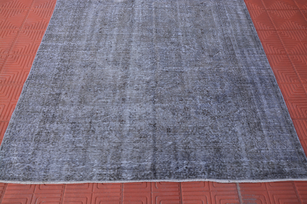 Overdyed Antique Rug, Handmade Rug, Home Decor Rug, Oriental Rug Vintage, Turkish Oushak Oriental Rug,         5.6 x 8.6 Feet AG1515