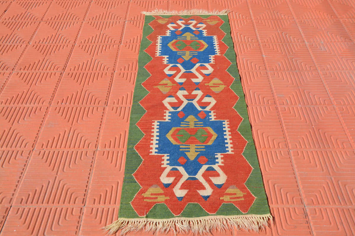 Small Turkish Rugs, Turkey Rugs, Mall Bathroom Rug, Anatolian Rug, Boho Rug, Oushak Small Rug, Area Rug, Wool Rug,   1.9 x 5.4 Feet AG1844