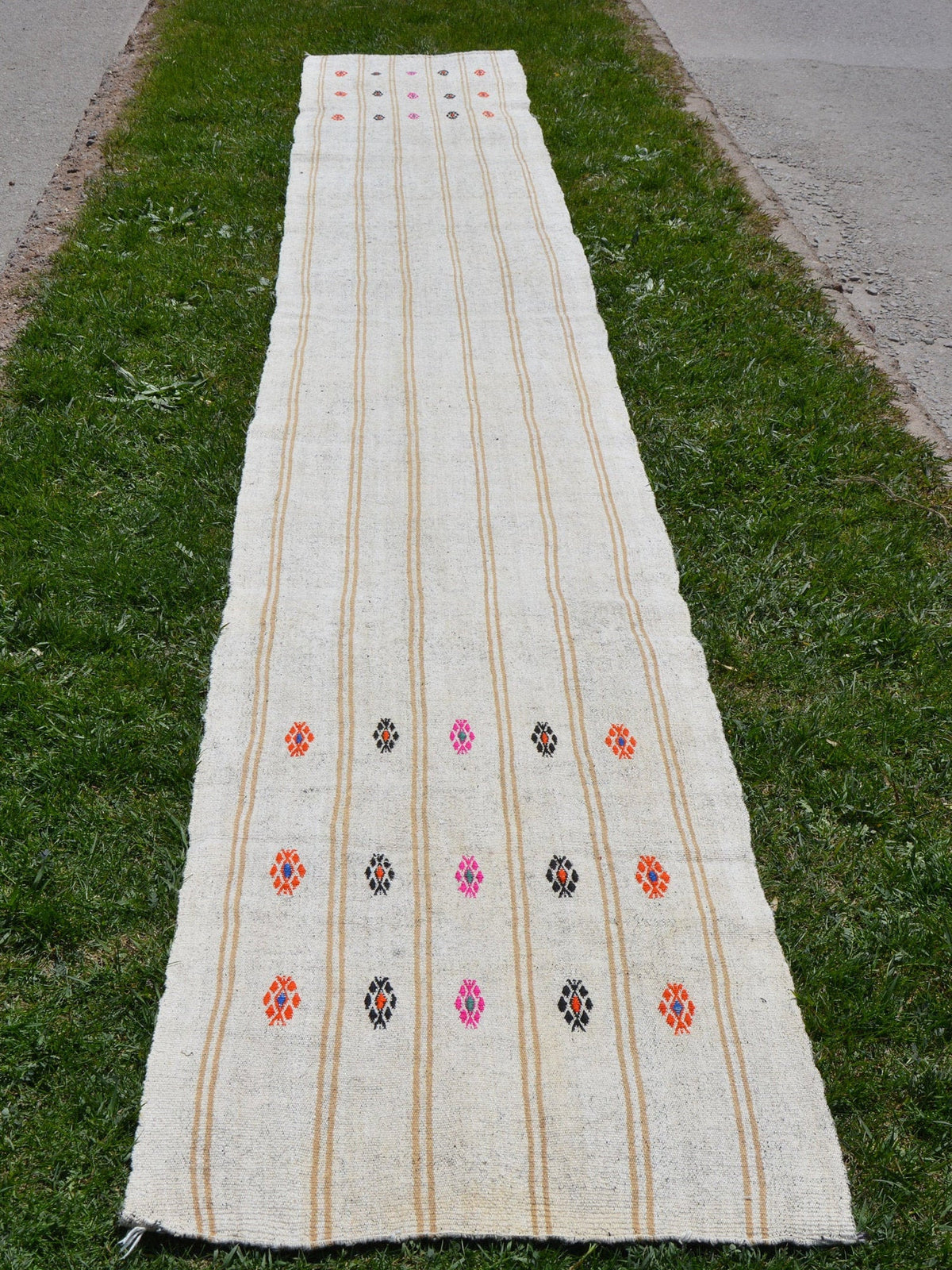 Vintage Runner Oushak Rug, Hand Knotted Rug, Turkish Rug, Handwoven Rug, Muted Rug, Turkish Oushak Rug, Unique Rug,   2.2 x 16.4 Feet AG1865