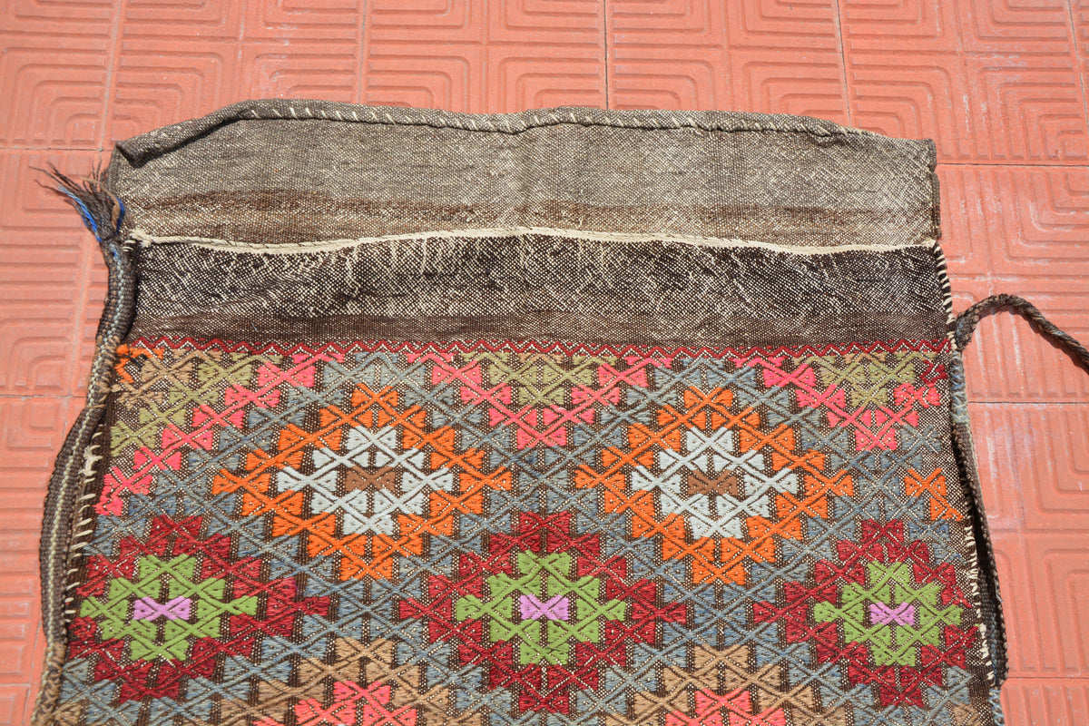 Turkey Storage Rug, Wool Rug, Turkish Kilim Rug, Oriental Rug, Vintage Turkish Rug, Distressed Rug, Turkish Rugs,     3.2 x 4.5 Feet AG1939