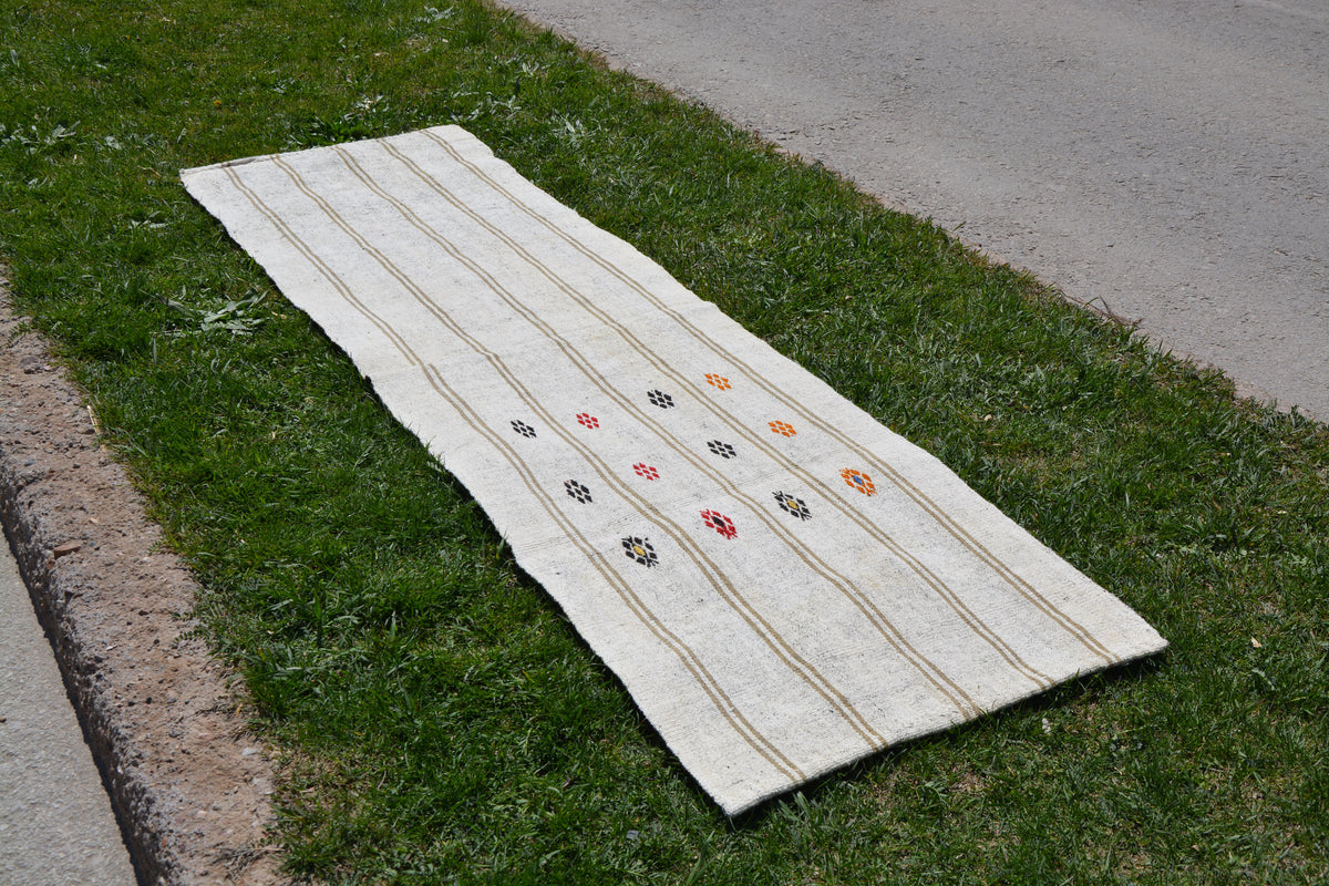 Antique Turkish Rug, Turkish Area Runner Rug, Vintage Area Rug, Large Area Rug, Boho Decor Rug, Runner Rug,      2.1 x 7.5 Feet AG1868