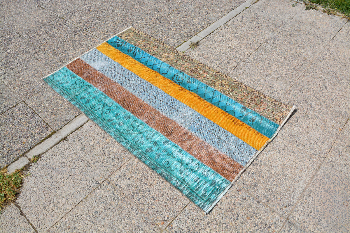 Patchwork Kilim Rug, Decor Rug, Ethnic Kilim, Turkish Kilim Rug, Oriental Rug,  Distressed Rug, Turkish Vintage Rug,  2.8 x 4.8 Feet LQ031