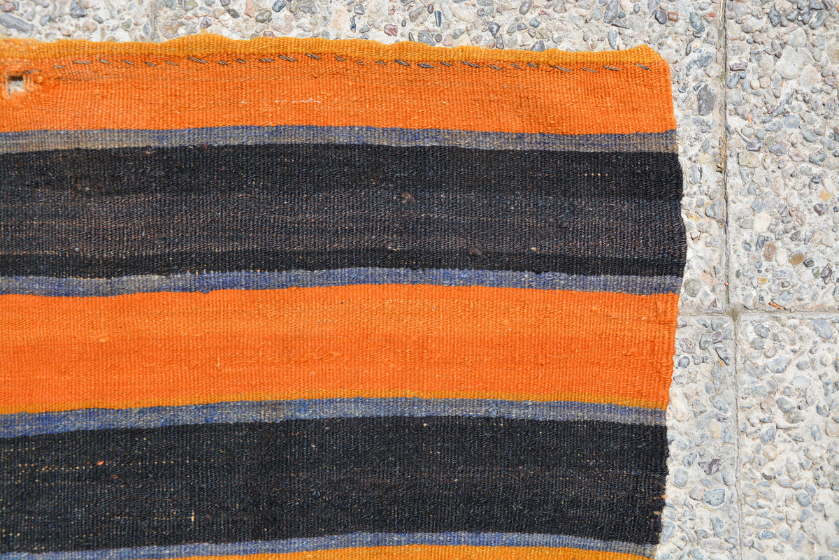 Turkish Rug, Antique Rug, Kilim Rug, Oriental Rug, Terracotta Rug, Oushak Rug, Orange Rug, Area Rug,  3.2 x 4.5 Feet LQ273