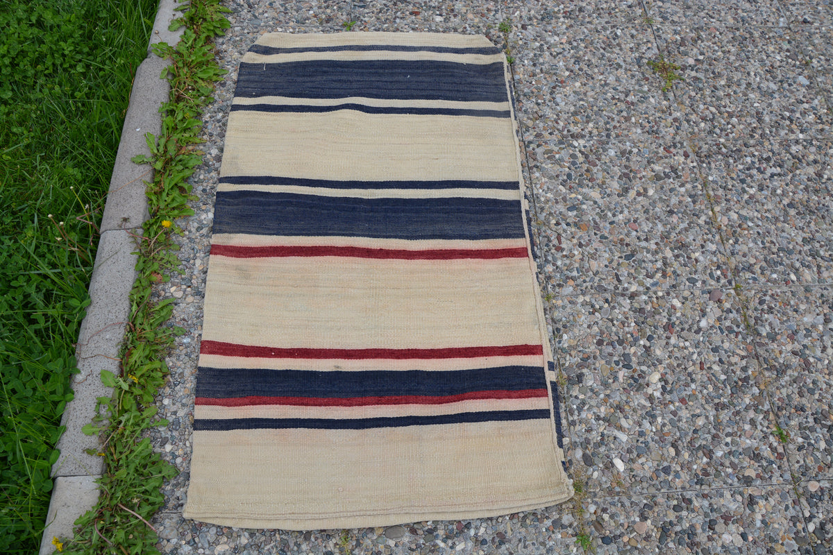 Oushak Chuval Small Rugs, Blue Rug, Oushak Rug, Oushak Small Rug, Oriental Rug, Antique Rug, Turkish Rug Storage,     2.1 x 3.9 Feet LQ252
