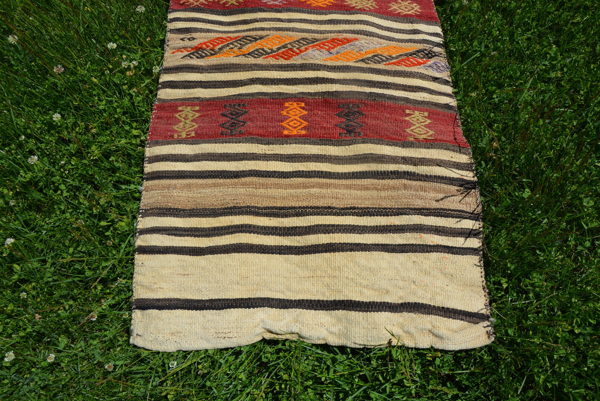 Turkish Wall Hanging Rug, Antique  Vintage Rug, Turkish Rug, Oushak Rug, Handmade Rug, Area Rug, Decorative Rug,      2.2 x 4.2 Feet LQ391