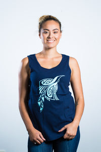 Womens Singlet Navy Blue