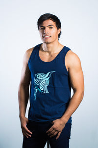 Mens Singlet Navy Blue