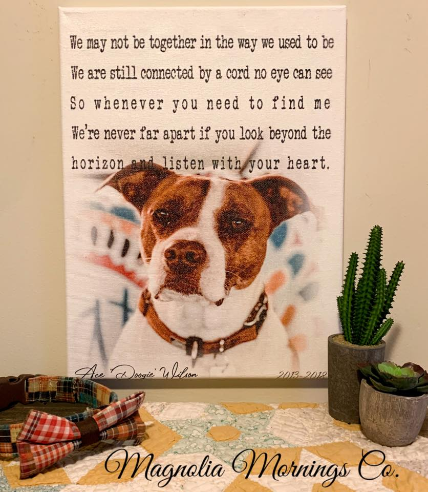 CUSTOM - Printed Pet or Family Member Remembrance Canvas