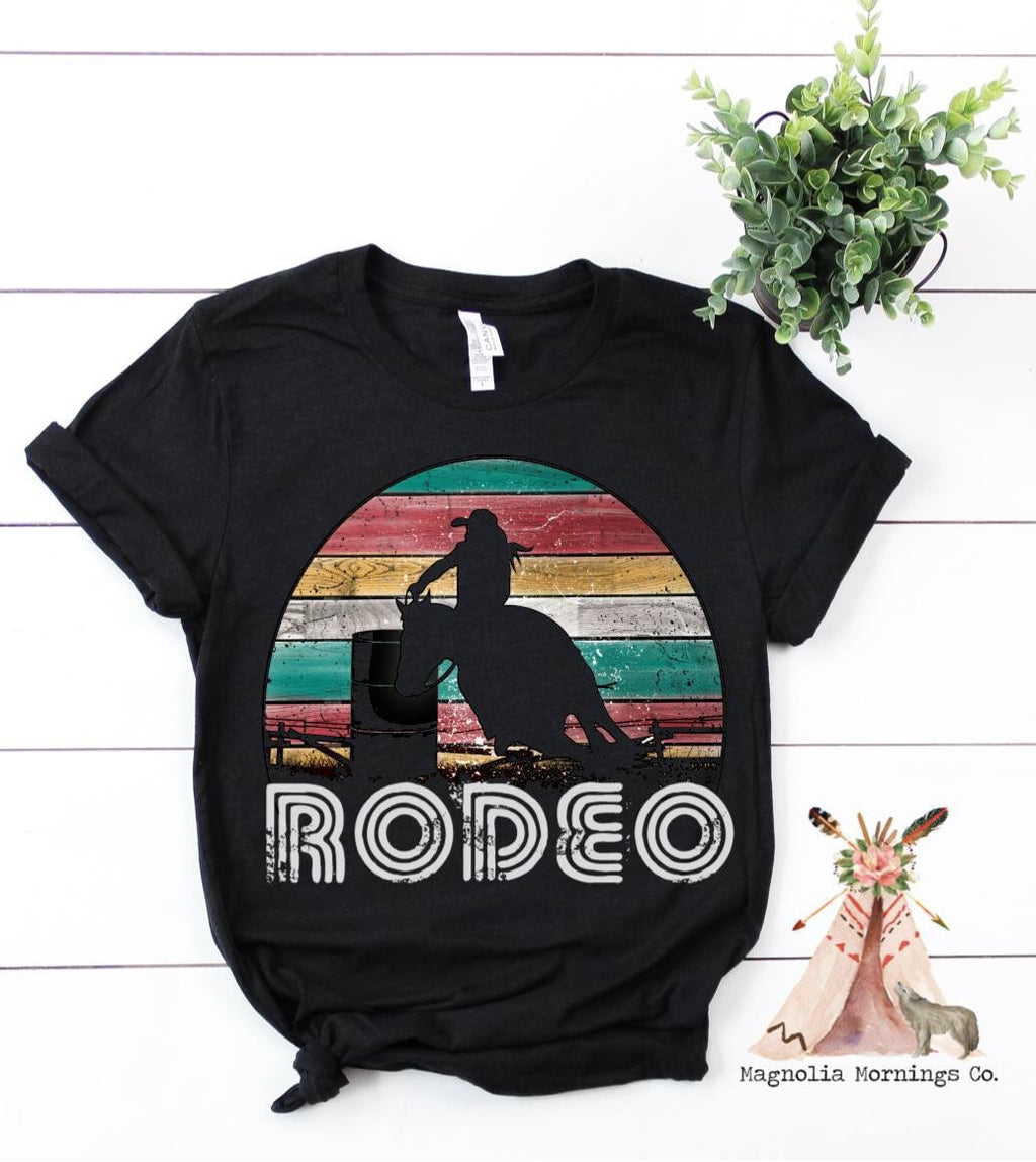 Vintage Rodeo Barrel Racer