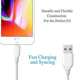 KIDA.in Short iPhone Cable,8-inch USB Fast Charging/Sync Mini Data Cable for iPhone X 8 7,7S,6,6S,5,5S,5C, iPad Mini, iPad Air, iPod Touch 5, iPod Nano. (2 Cables in 1 Pack) (Black + White)