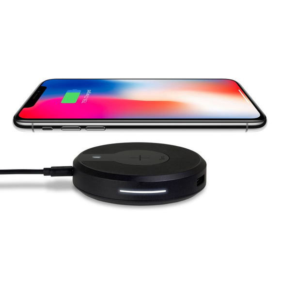 Kida Torrii Bolt 10Watts Wireless Fast Charger Charging Hub For IPhone 8 / 8 Plus, IPhone X, Nexus 5 / 6 / 7, And Other Devices, Provides Fast-Charging For Galaxy S8/ S8+/ S7 / S7 Edge / S6 Edge+, And Note 5 (Black)