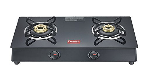 Prestige Marvel Plus Aluminum 2 Burner Gas Stove (Black)