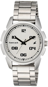 Fastrack Casual Analog Silver Dial Men's Watch -NK3124SM01