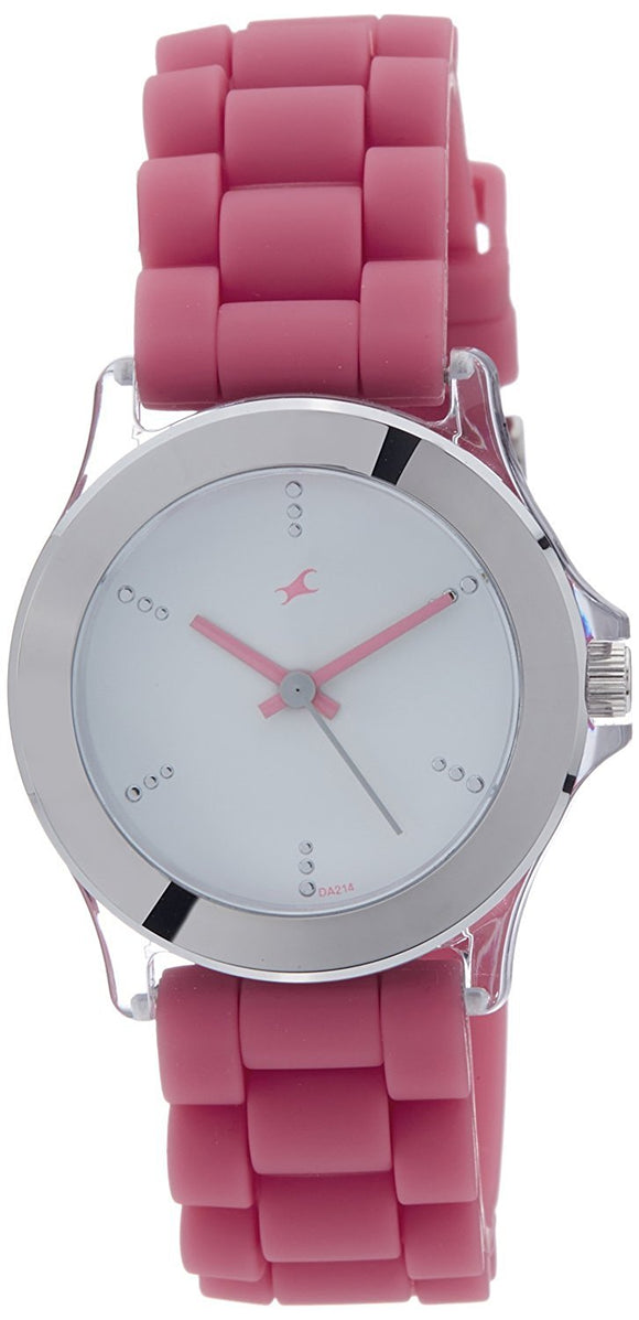 Fastrack Beach Upgrades Analog White Dial Women's Watch - 9827PP07