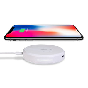 Kida Torrii Bolt 10Watts Wireless Fast Charger Charging Hub For IPhone 8 / 8 Plus, IPhone X, Nexus 5 / 6 / 7, And Other Devices, Provides Fast-Charging For Galaxy S8/ S8+/ S7 / S7 Edge / S6 Edge+, And Note 5 (White)