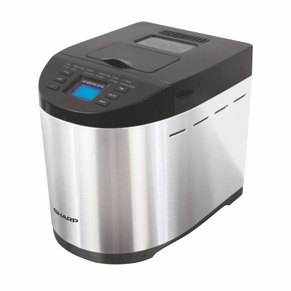 Sharp 2018 600W Table-Top Bread Maker with fully automatic function, 12 pre-programmed menus & adjustable browning (1 year Onsite warranty (Black & Grey))