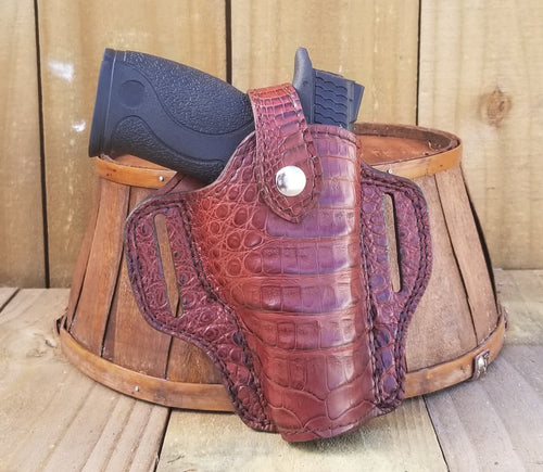 Red Caiman Alligator Gun Holster