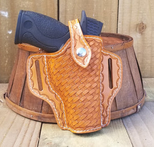 Tooled Leather Gun Holster