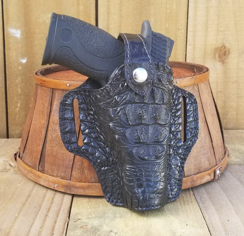 Black Hornback Caiman Alligator Gun Holster