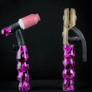 "Plum Water Acrylic TIG Handle, Stick Handle and 3/4"" Back Cap"