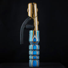 Blue, Grey & Brown Wood Handle