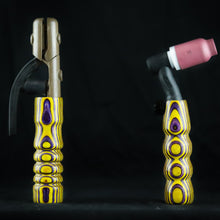 Purple & Yellow Wood Handle