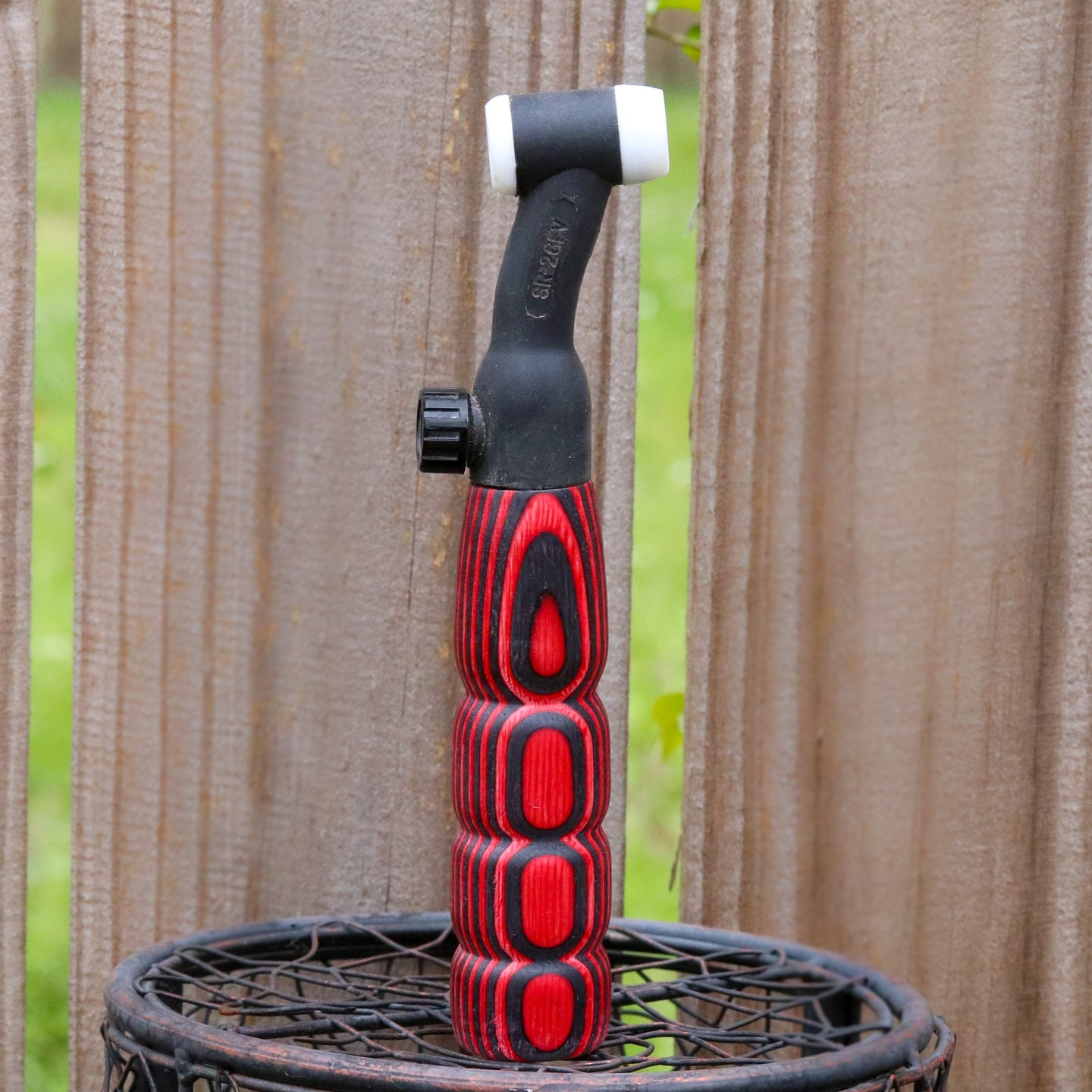 200 amp TIG Torch Wood Handle - Black & Red
