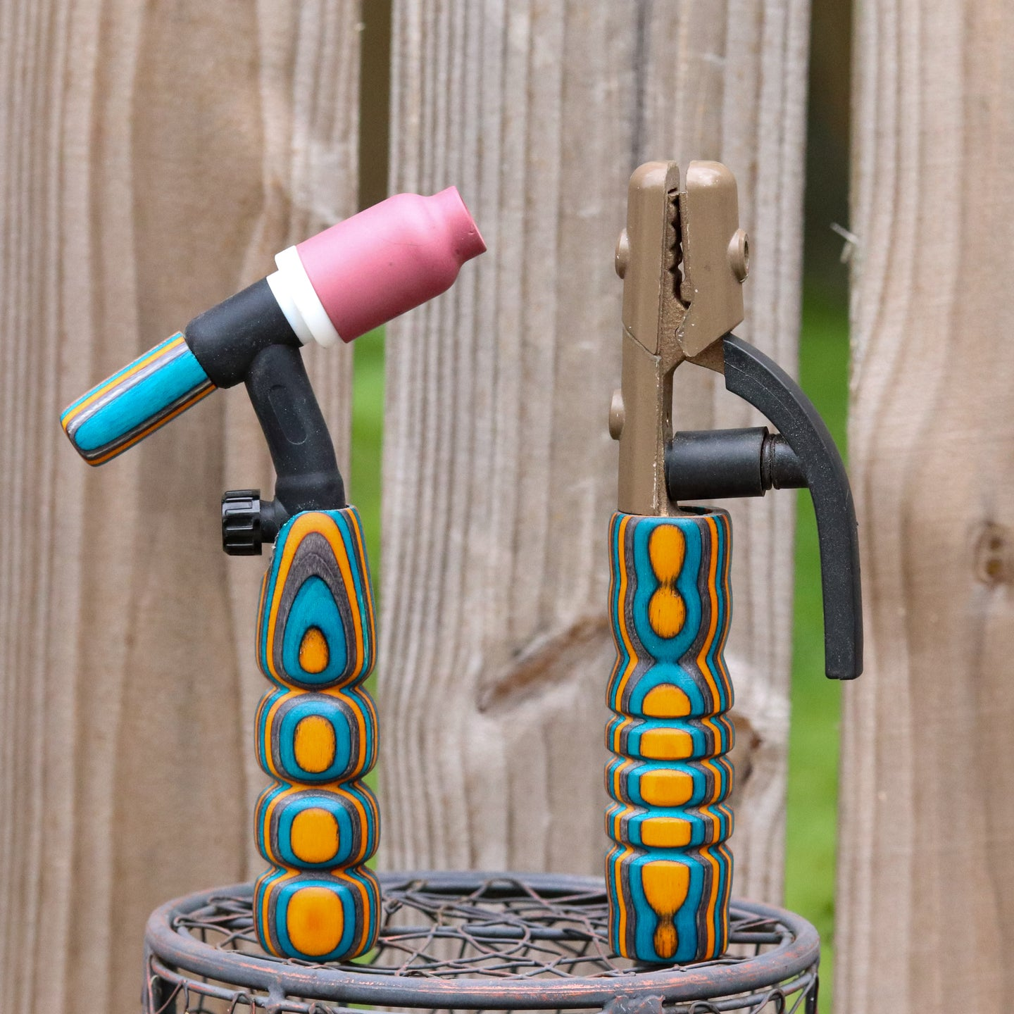 Combo - Stick and 150 amp TIG Torch Wood - Orange, Blue and Grey with Free Backpcap