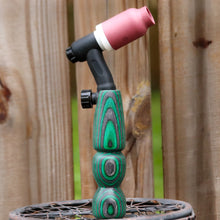 150 amp TIG Torch Wood Handle - Green and Grey