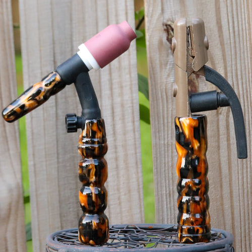 Combo - Stick and 150 amp TIG Torch Acrylic- Tiger with Free Backcap