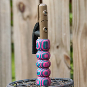 THICK Stick Wood Handle - Cotton Candy