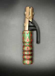 Green & Red Wood Handle